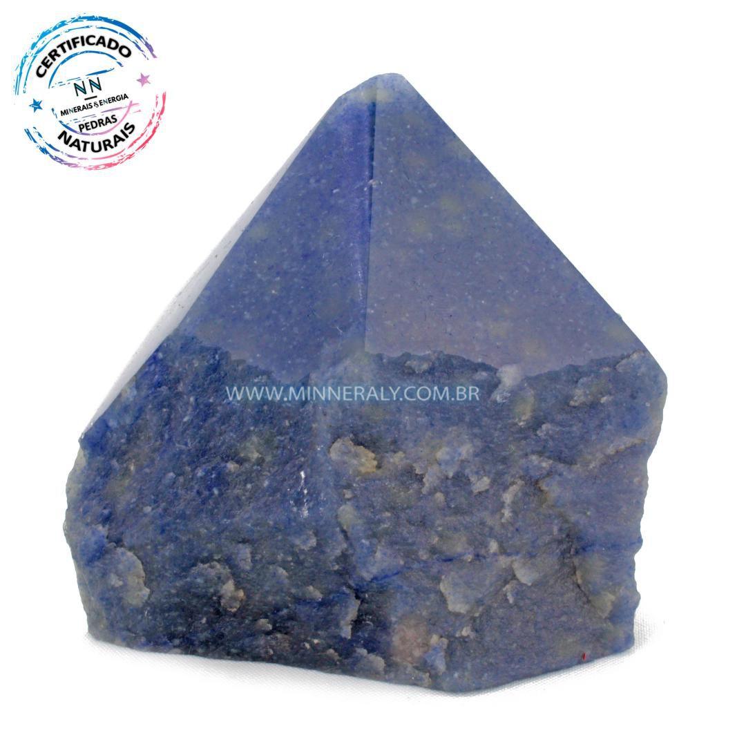 Ponta Geradora de Quartzo Azul in Natura (0,810kg; 10,5cm) #NN202