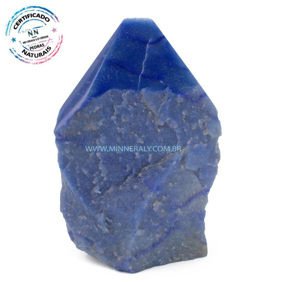 Ponta Geradora de Quartzo Azul in Natura (1,192kg; 14,5cm) #NN203
