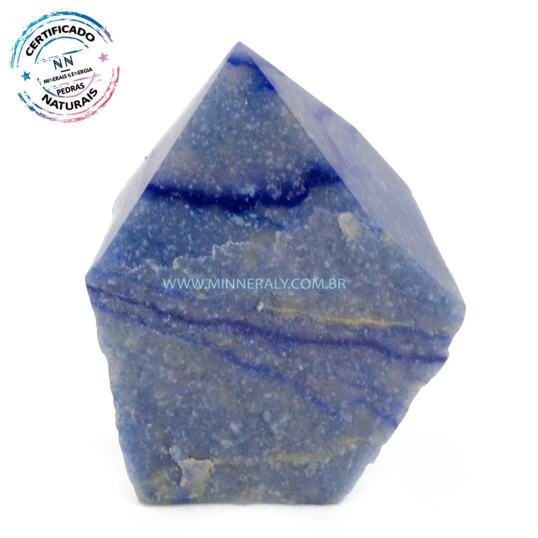 Ponta Geradora de Quartzo Azul in Natura (0,564kg; 10cm) #NN204