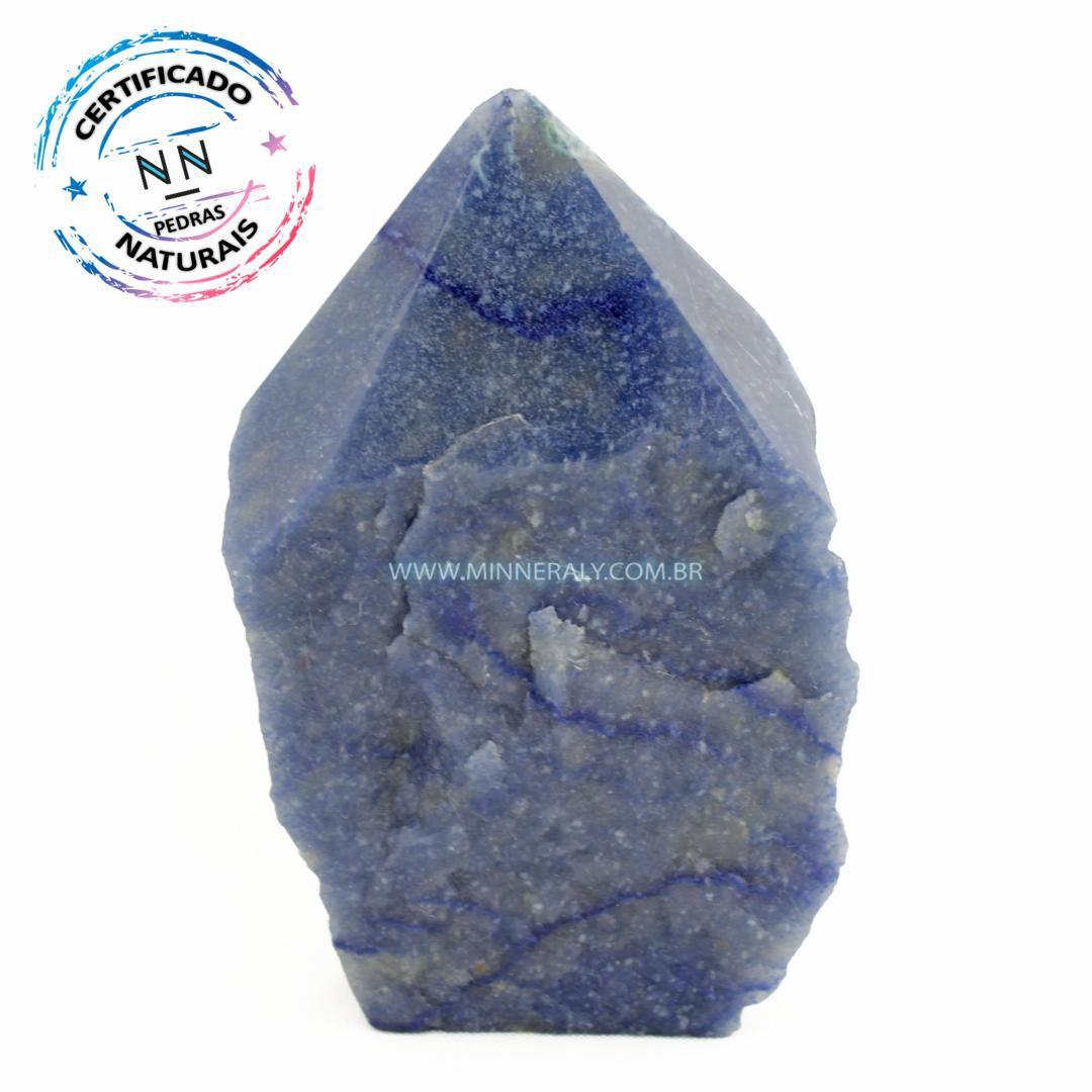 Ponta Geradora de Quartzo Azul in Natura (0,670kg; 8,5cm) #NN205