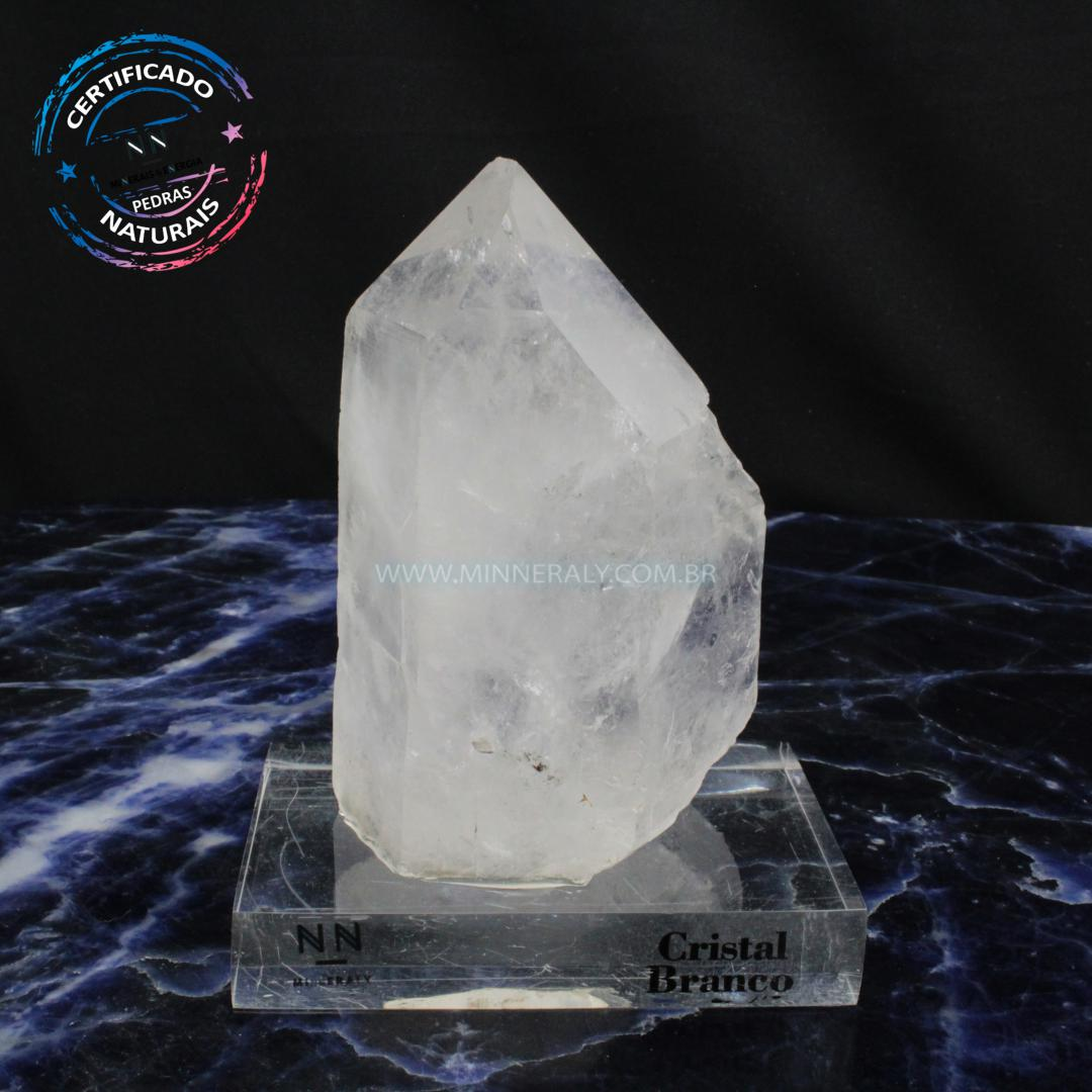 Ponta de Quartzo ou Cristal Branco IN Natura Clear.collection (1,045KG; ALT: 14,3CM; COMP: 8,2CM; LARG: 5,8CM)