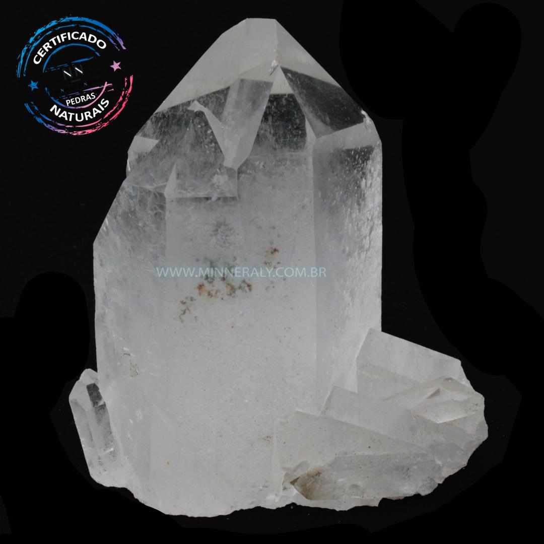 Ponta de Quartzo ou Cristal Branco IN Natura em Bruto (0,978KG; ALT: 11,5CM; COMP:10,8CM; LARG: 6,9CM)