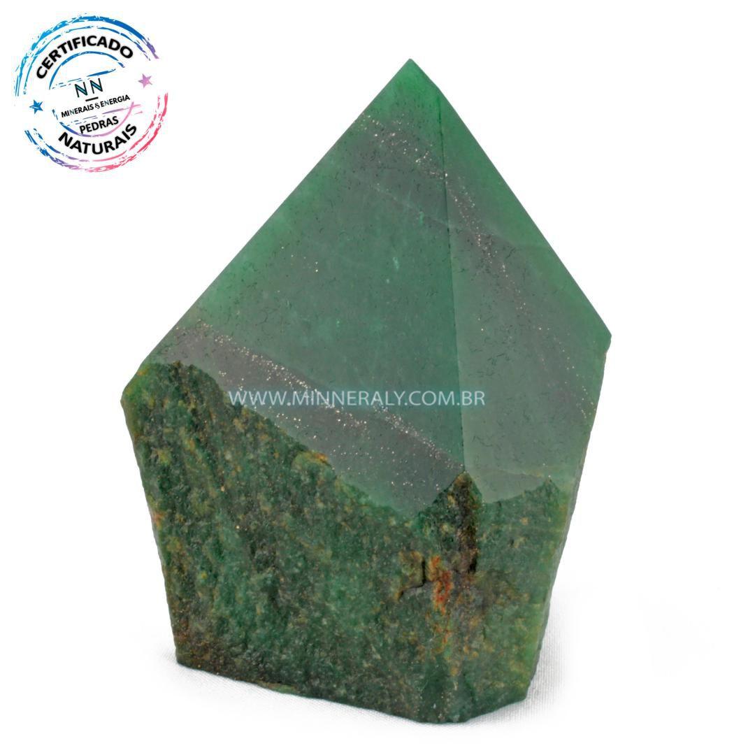 Ponta Geradora de Quartzo Verde ou (Aventurina) in Natura (0,994kg; 11,6cm) #NN241