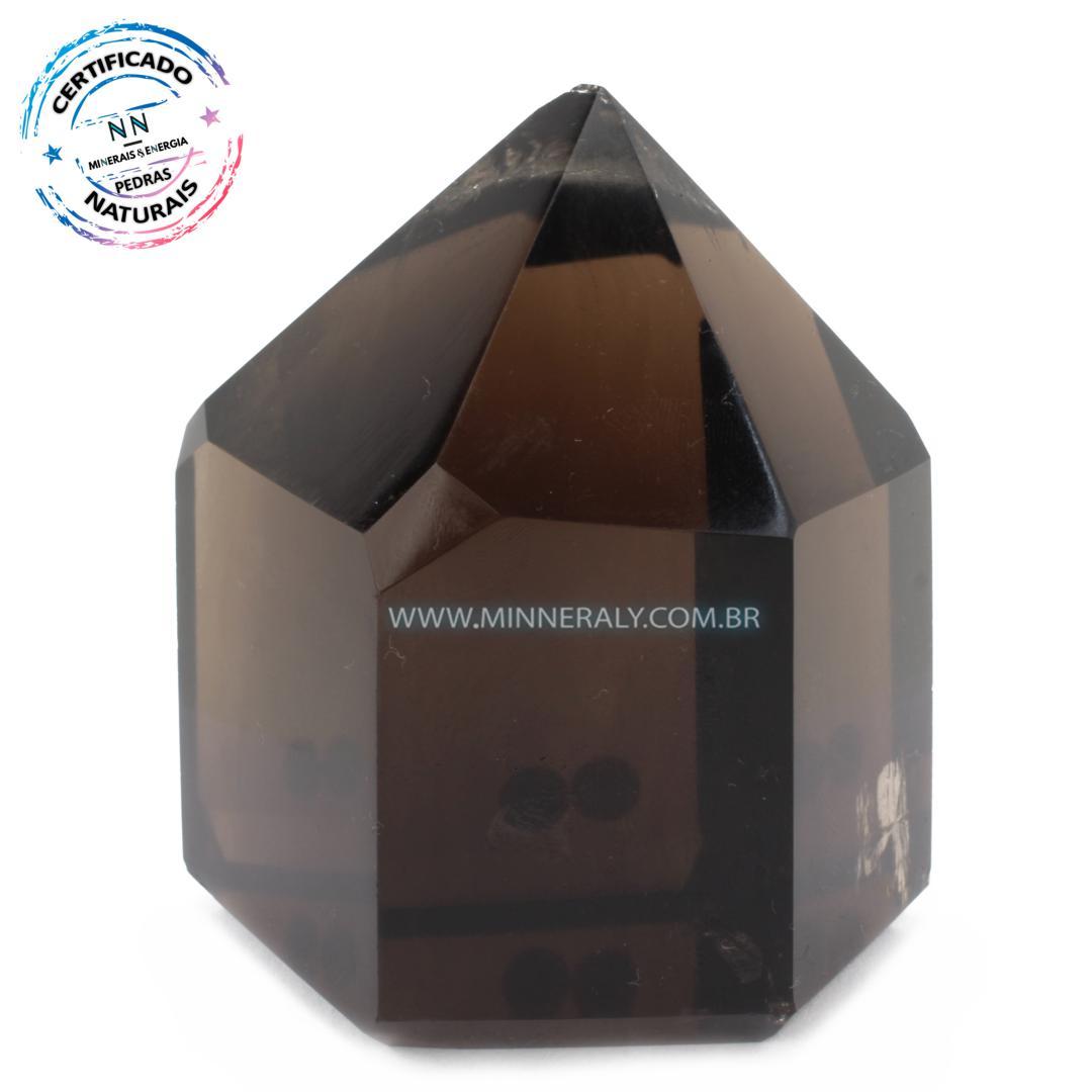 Ponta de Quartzo ou Cristal Fumê (Enfumaçado) in Natura (0,950kg; 10,3cm) #NN136