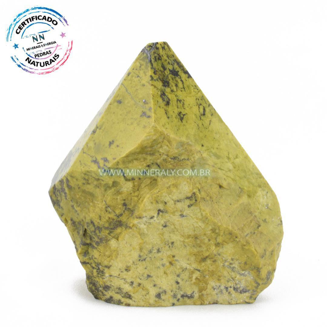 Ponta de Pedra do Infinito (Serpentina Verde-Clara) in Natura (0,710kg; 11cm) #NN188