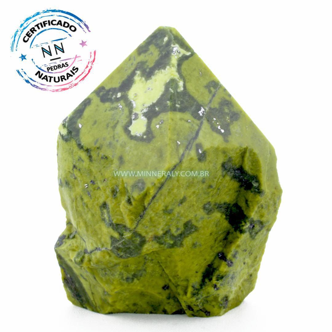 Ponta de Pedra do Infinito (Serpentina Verde-Clara) in Natura (0,662kg; 11cm) #NN192