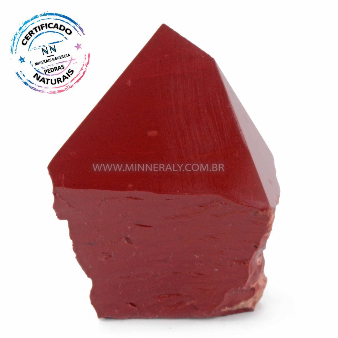 Ponta Geradora de Jaspe Vermelho IN Natura (0,320KG; ALT: 8,9CM; COMP: 7,8CM; LARG: 5,2CM)
