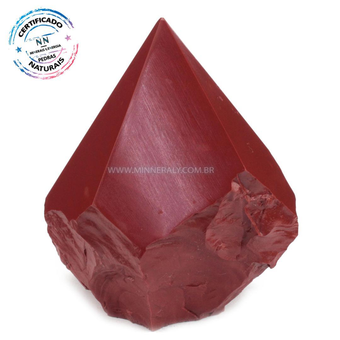 Ponta Geradora de Jaspe Vermelho IN Natura (0,672KG; ALT: 10,3CM; COMP: 9,1CM; LARG: 7,5CM)