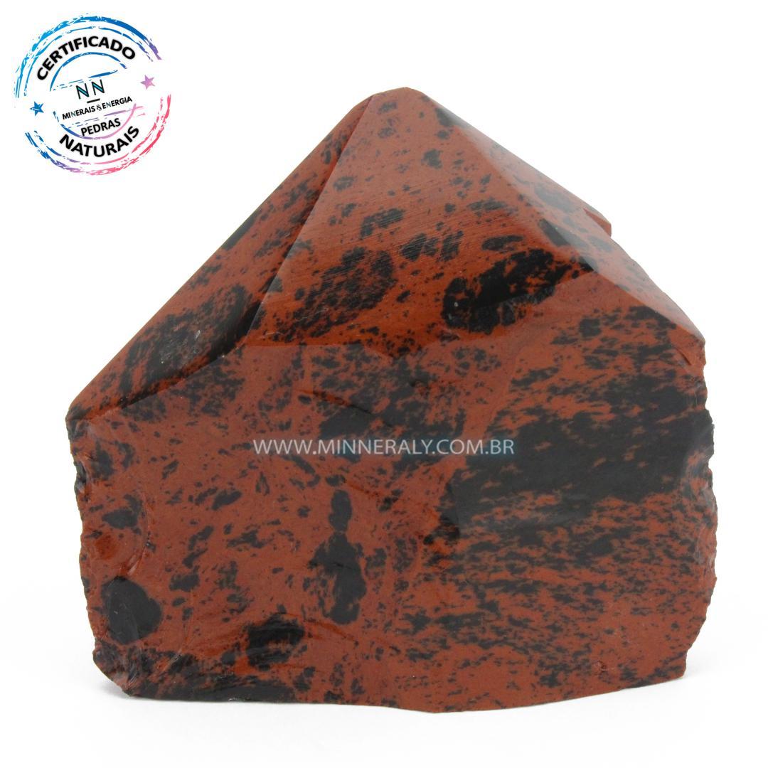 Ponta Geradora de Obsidiana Cor De Magno (Marrom ou Mahagony)  in Natura (0,440kg; 8,3cm) #NN167