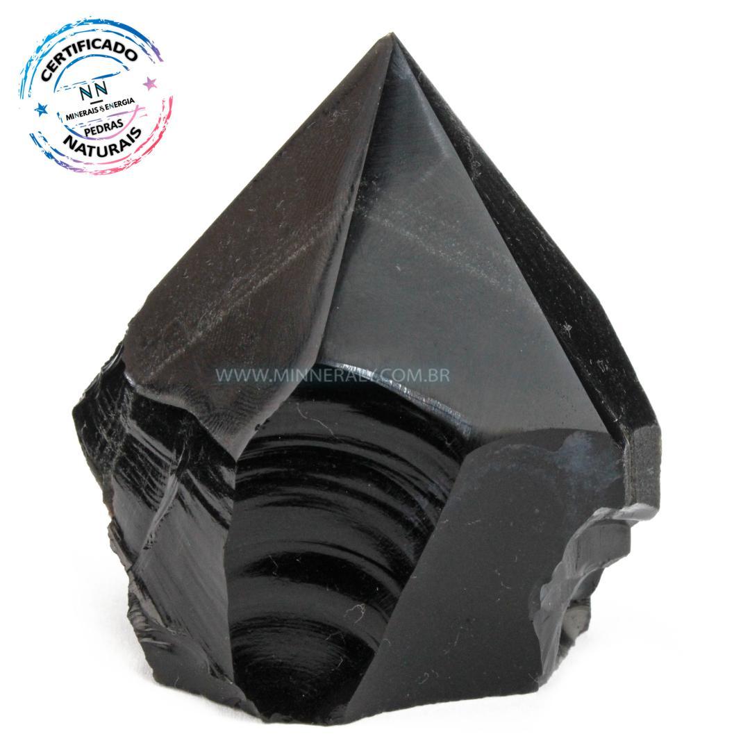 Ponta Geradora de Obsidiana IN NATURA(0,170KG; ALT: 6,5CM; COMP: 4,0CM; LARG: 6,8CM)