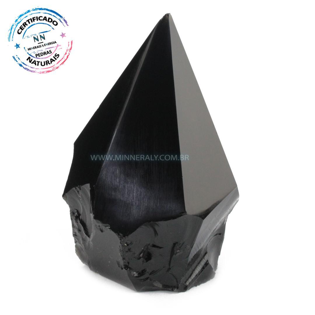 Ponta Geradora de Obsidiana IN Natura (0,226KG; ALT: 9,0CM; COMP: 5,9CM; LARG: 4,6CM)