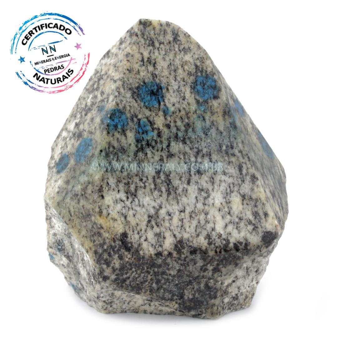 Ponta Geradora de Pedra K2 (ketonita) IN Natura (0,630KG; ALT: 10,5CM; COMP: 8,3CM; LARG: 5,9CM)