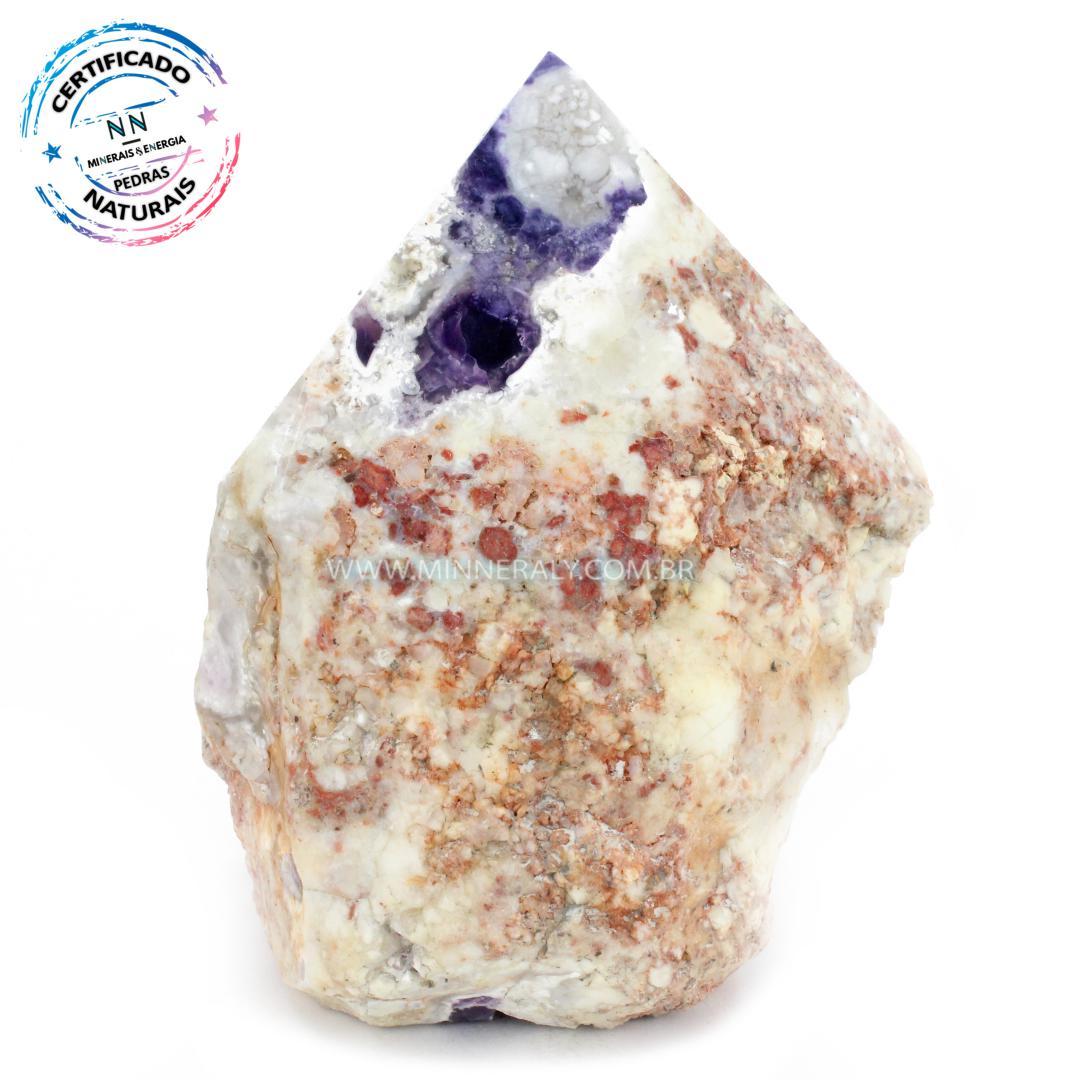 Ponta Geradora de Pedra Tiffany (Opala Púrpura ou Lavanda Roxa) in Natura (1,192kg; 13,9cm) #NN133