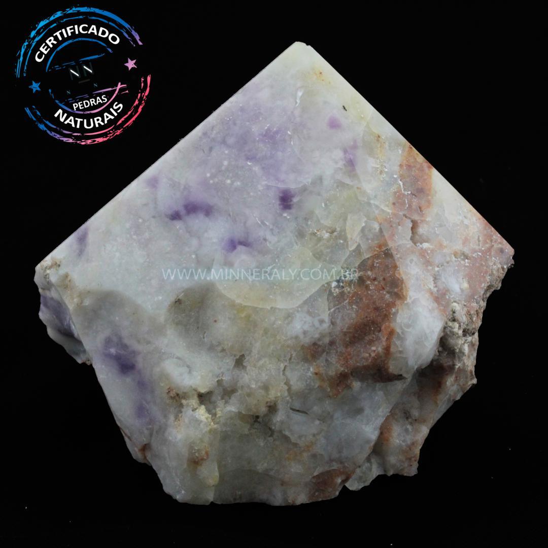 Ponta Geradora de Pedra Tiffany (opala Purpura ou Lavanda Roxa) IN Natura (0,658KG; ALT: 8,7CM; COMP: 9,8CM; LARG: 9,6CM)