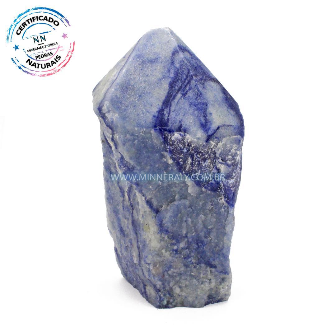 Ponta Geradora de Quartzo Azul in Natura (0,676kg; 13,5cm) #NN126