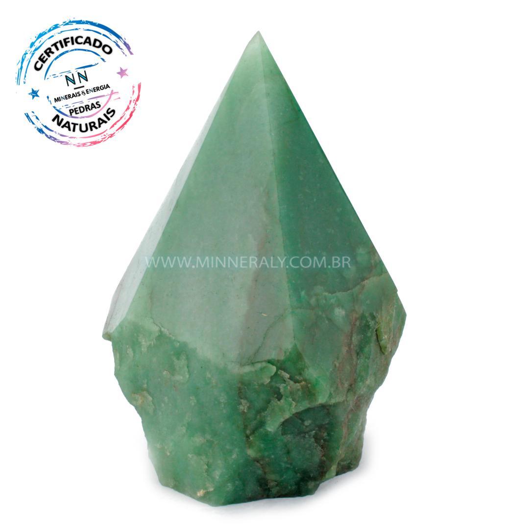 Ponta Geradora de Quartzo Verde IN Natura (1,060KG; ALT: 13,0CM; COMP: 10,4CM; LARG: 8,2CM)