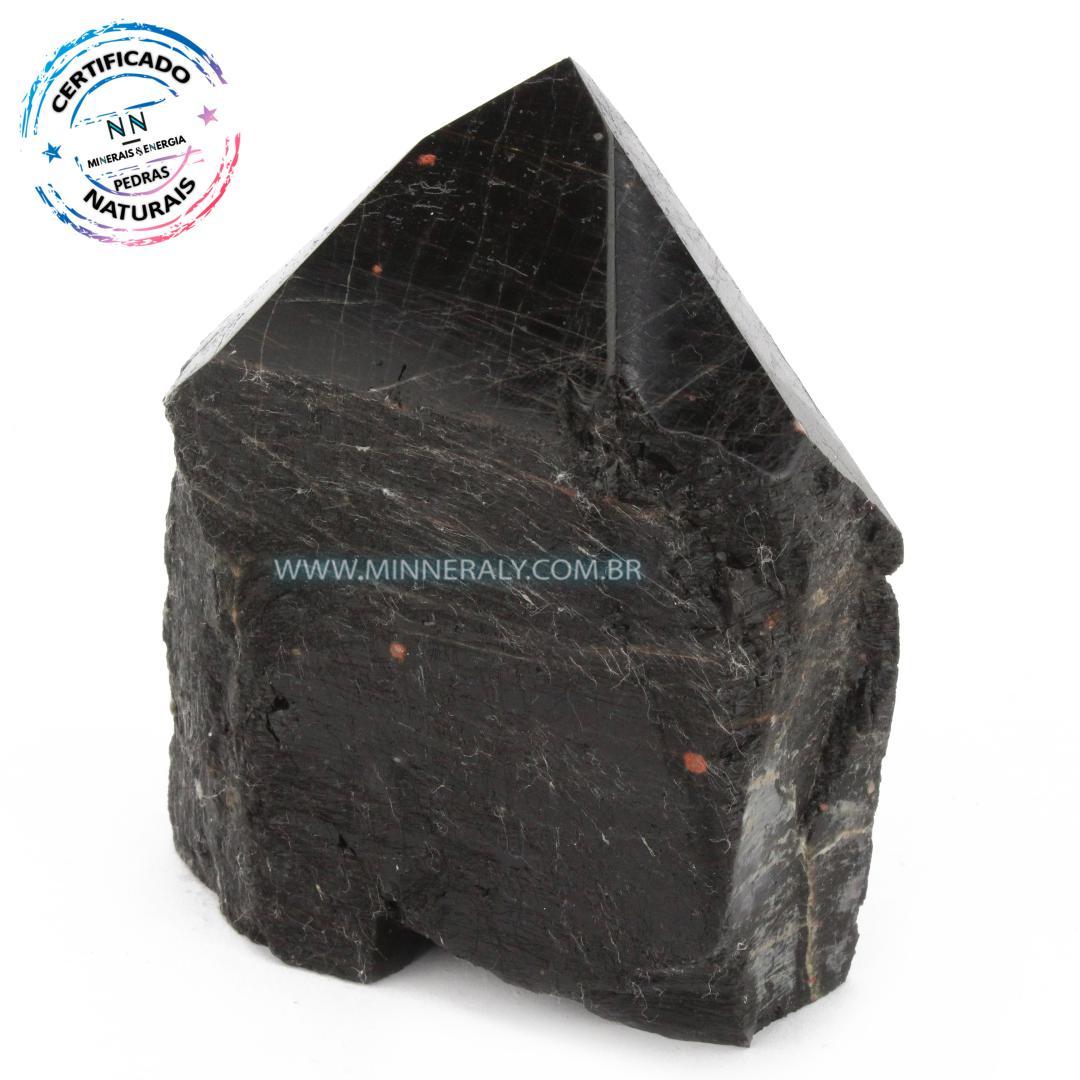 Ponta Geradora de Turmalina Preta (Negra) in Natura (0,440kg; 10,0cm) #NN248