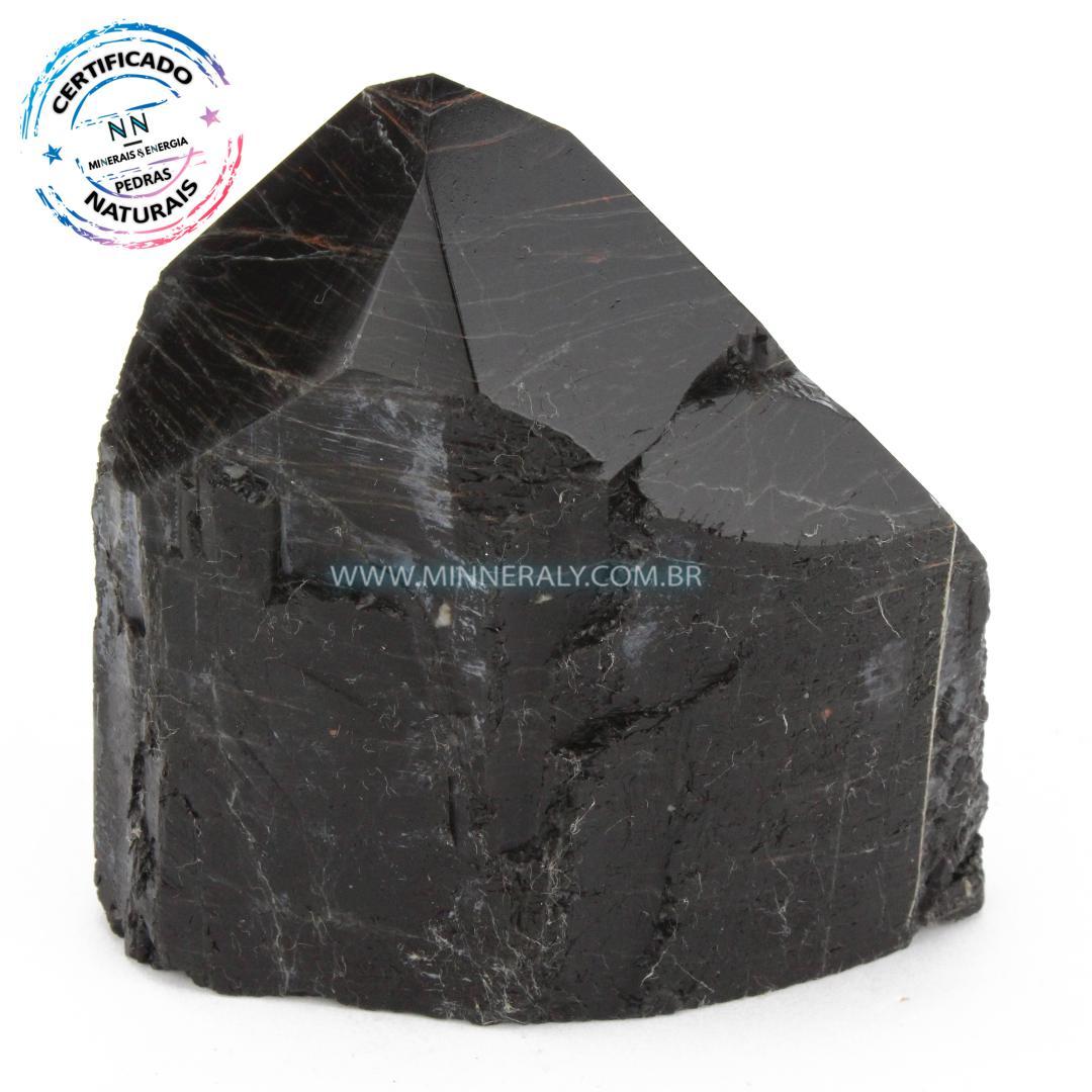 Ponta Geradora de Turmalina Preta (Negra) in Natura (0,720kg; 10,8cm) #NN252