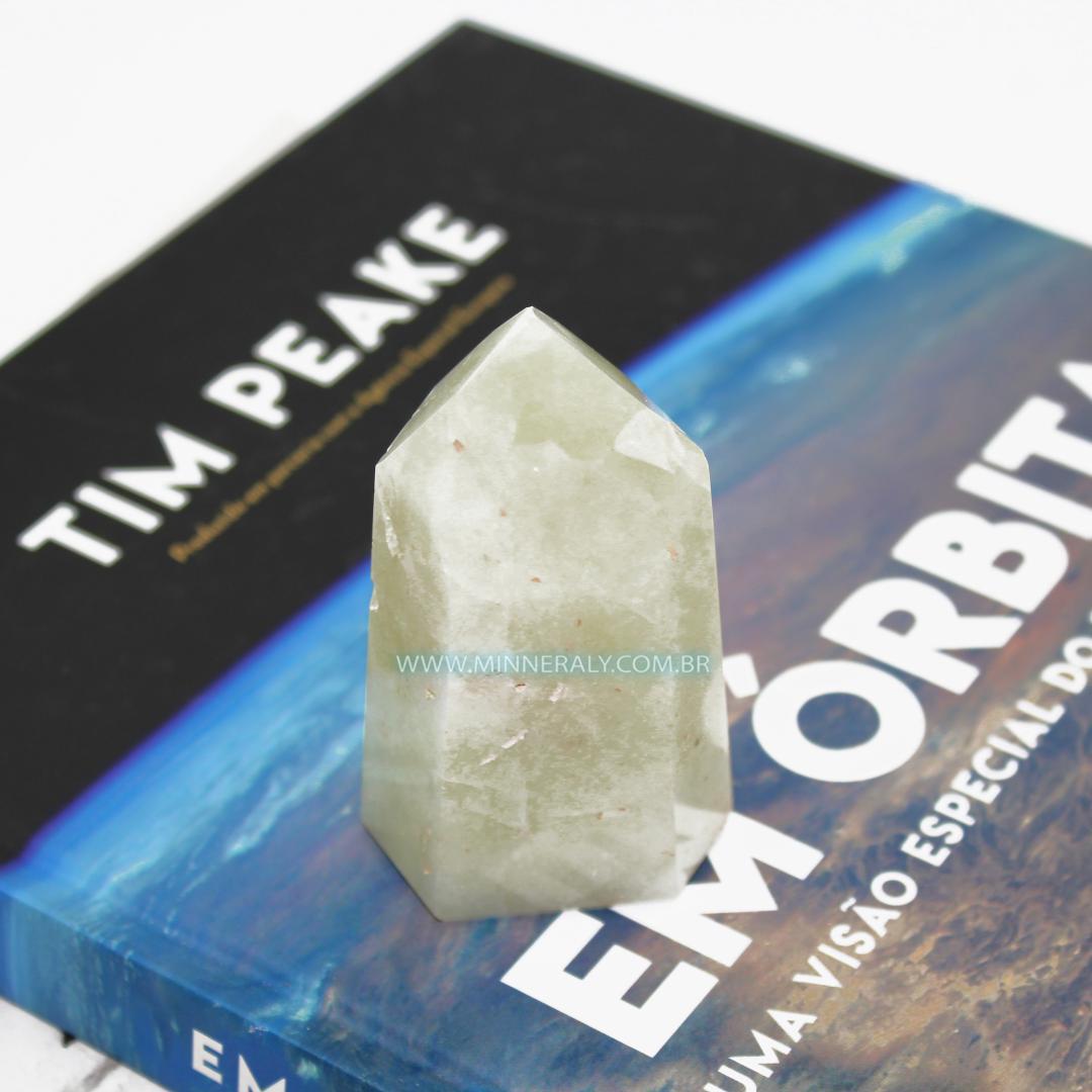 Ponta de Quartzo ou Cristal com Enxofre in Natura (0,190kg; 8,0cm) #NN168