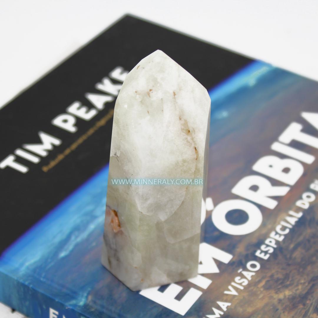 Ponta de Quartzo ou Cristal com Enxofre in Natura (0,270kg; 10,5cm) #NN167
