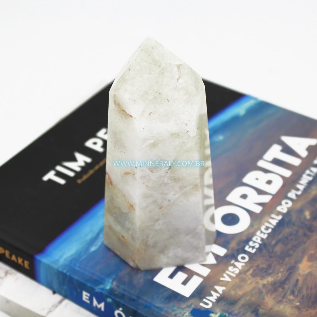 Ponta de Quartzo ou Cristal com Enxofre in Natura (0,490kg; 15,0cm) #NN169