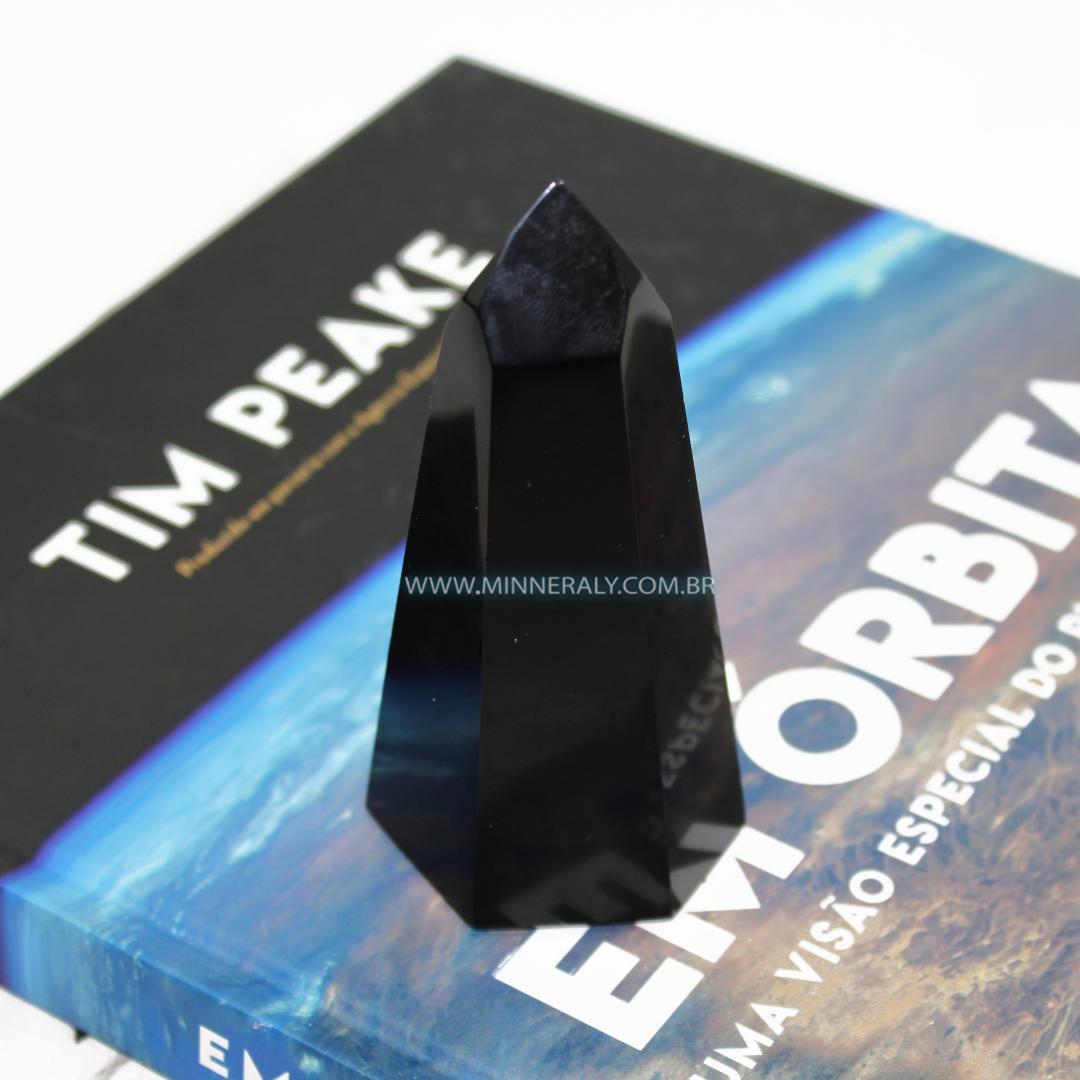 Ponta de Obsidiana Negra (Preta) in Natura (0,208kg; 10,7cm) #NN226