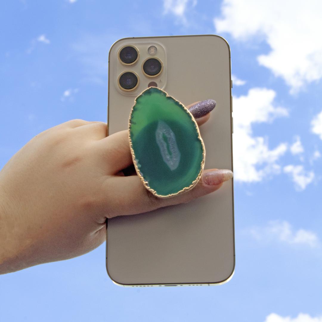 Pop Socket de AGATA para Celular (dourado)