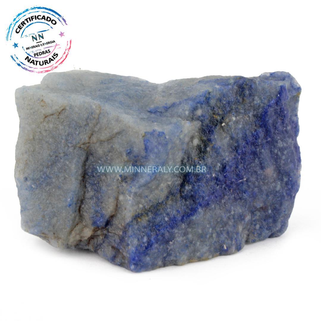 Quartzo Azul in Natura em Bruto (0,346kg; 5,9cm) #NN581