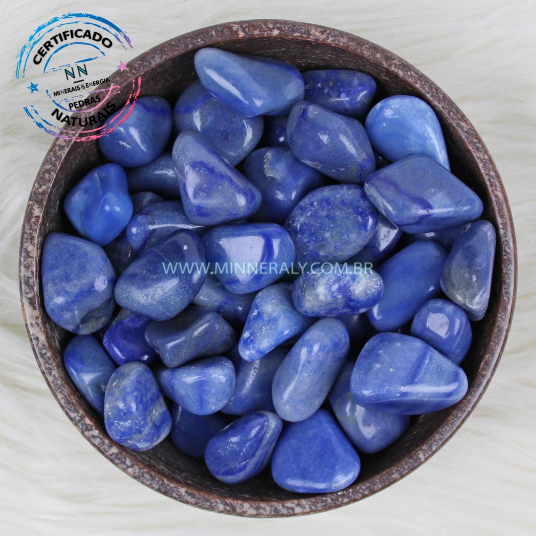 Quartzo Azul in Natura Rolada/Quilo