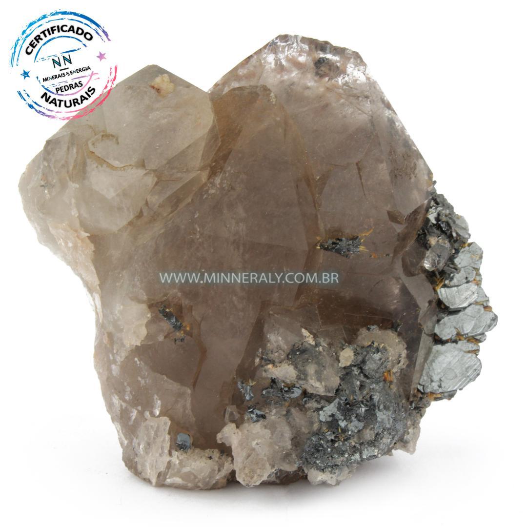 Quartzo ou Cristal Elestial (Quartzo Jacaré) com Hematita in Natura em Bruto (0,474kg; 8,8cm) #NN101