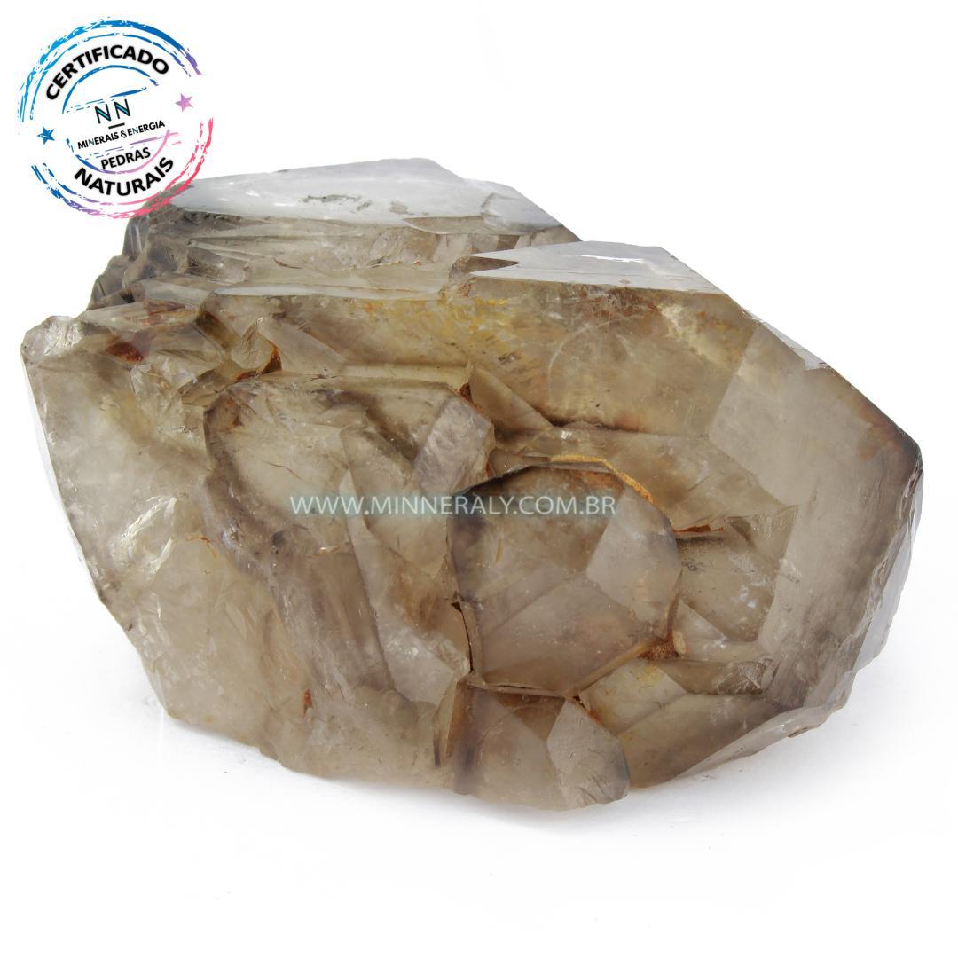 Quartzo ou Cristal Elestial (quartzo Jacare) IN Natura em Bruto (0,362KG; ALT: 4,4CM; COMP: 7,5CM; LARG: 8,1CM)