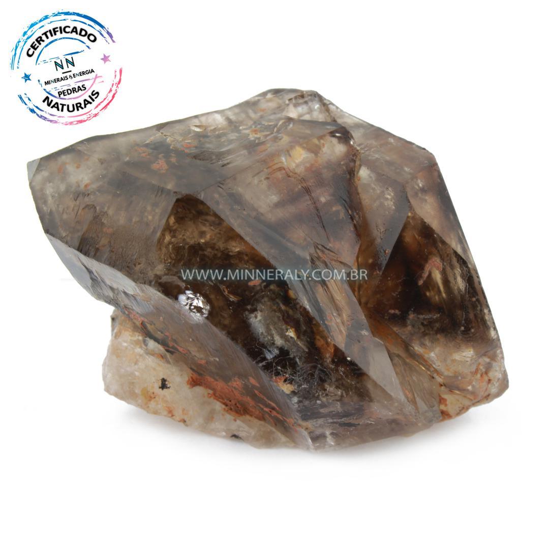 Quartzo ou Cristal Elestial (Quartzo Jacaré) in Natura em Bruto (0,246kg; 6,2cm) #NN103