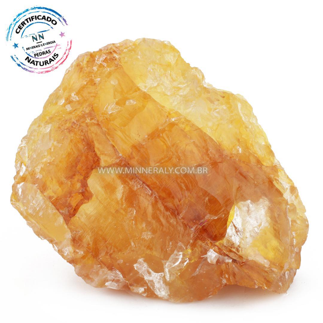 Quartzo ou Cristal Hematoide Amarelo (Agente de Cura Ouro) in Natura em Bruto (1,972kg; 13,4cm) #NN561