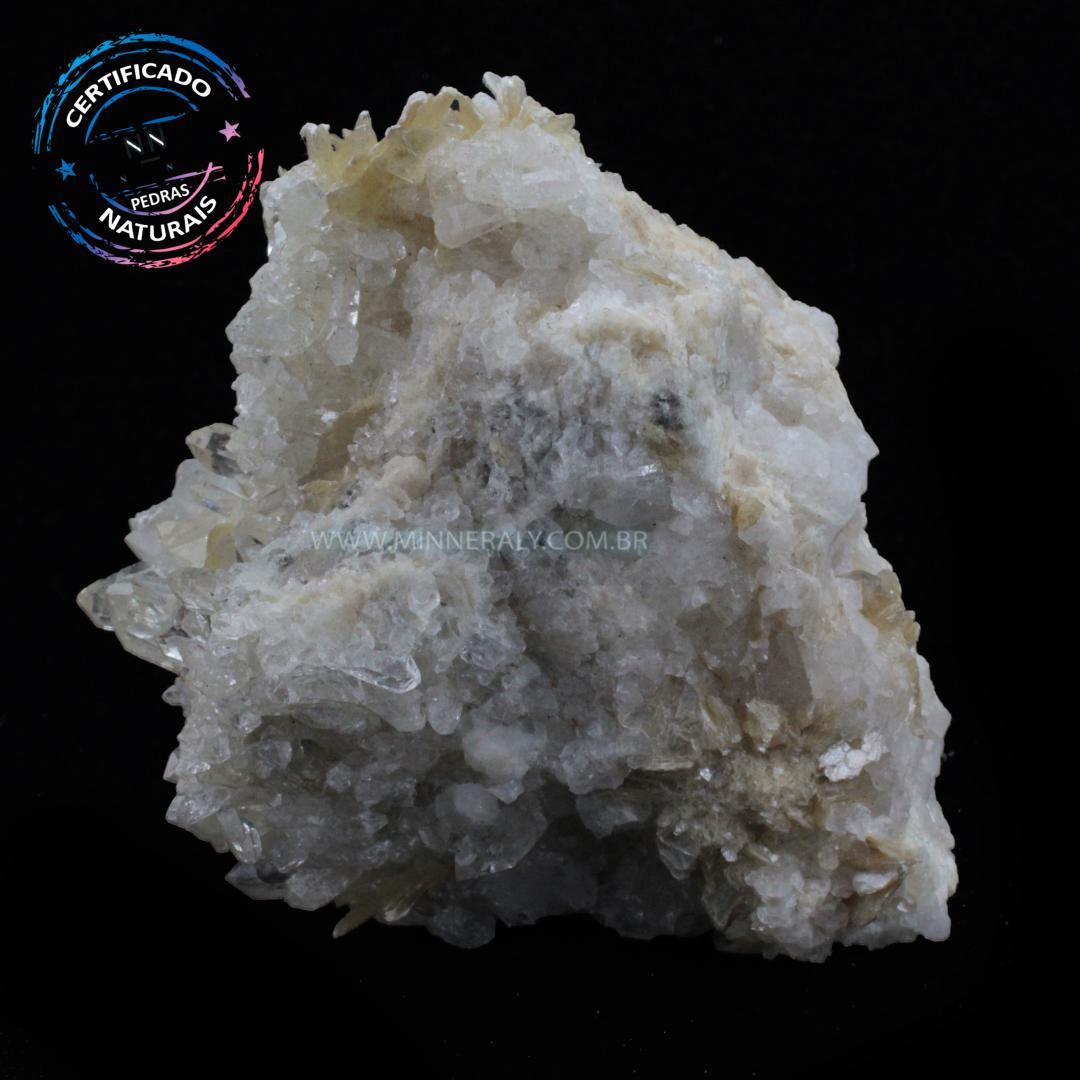 Quartzo ou Cristal Branco com Mica IN Natura em Bruto (0,420KG; ALT: 8,7CM; COMP: 9,3CM; LARG: 5,4CM)