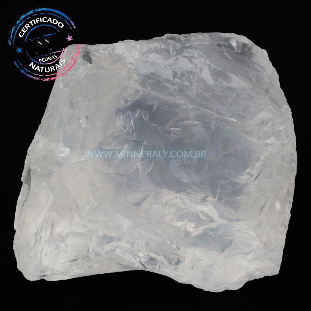 Quartzo ou Cristal Branco IN Natura em Bruto (1,002KG; ALT: 7,8CM; COMP: 9,5CM; LARG: 8,6CM)