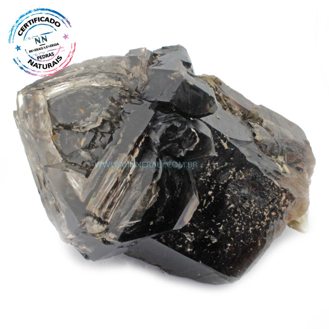 Quartzo ou Cristal Elestial (jacaré) com Lepidolita  IN Natura em Bruto (1,530KG; ALT: 10,2CM; COMP: 14,9CM; LARG: 11,8CM)