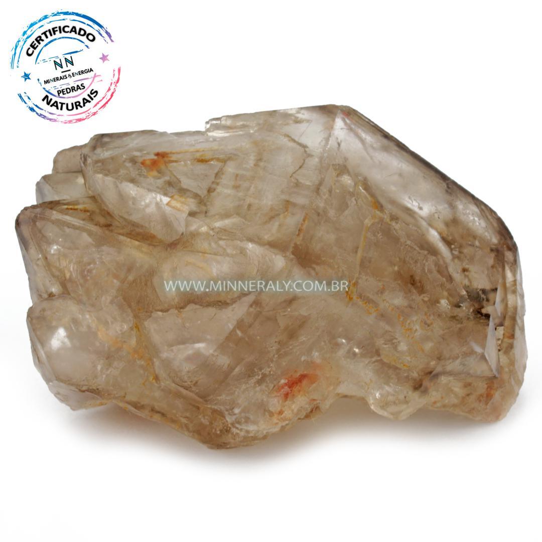 Quartzo ou Cristal Elestial (quartzo Jacare) IN Natura em Bruto (0,596KG; ALT: 7,5CM; COMP: 11,0CM; LARG: 9,1CM)