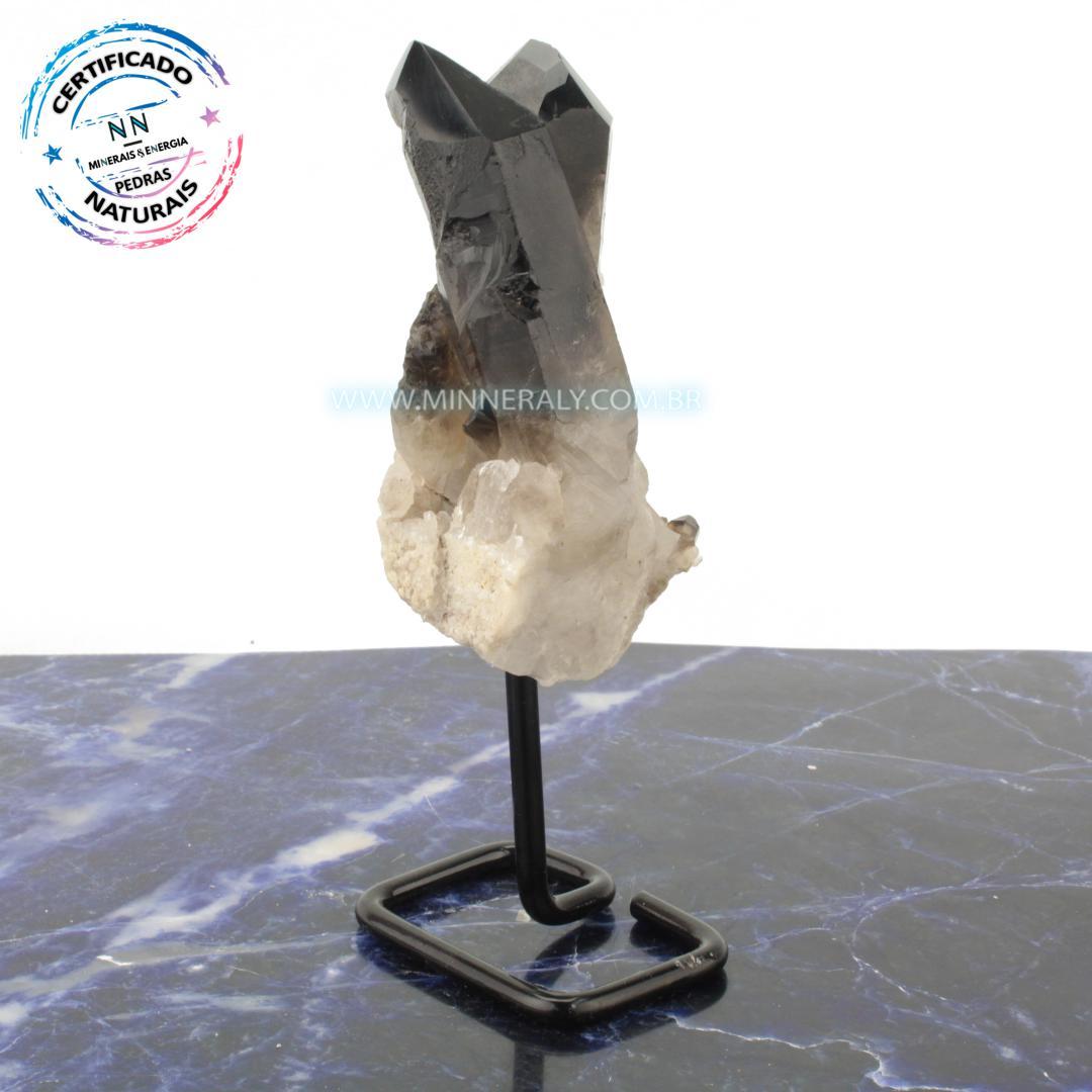 Quartzo ou Cristal Fumê (Enfumaçado) in Natura Metal.Collection (0,454kg; 18cm) #NN104