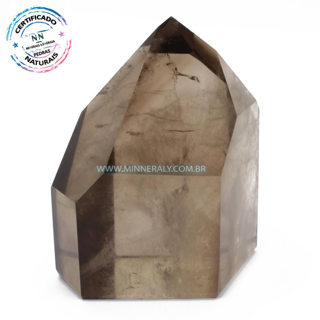 Ponta de Quartzo ou Cristal Fumê (Enfumaçado) in Natura (0,876kg; 10,6cm) #NN134