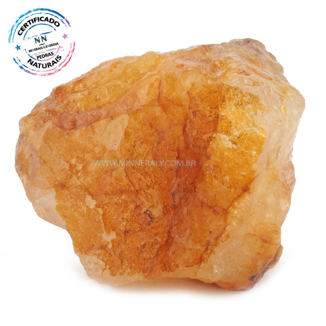 Quartzo ou Cristal Hematoide Amarelo (agente de Cura Ouro) IN Natura em Bruto (0,436KG; ALT: 8,0CM; COMP: 9,1CM; LARG: 6,2CM)