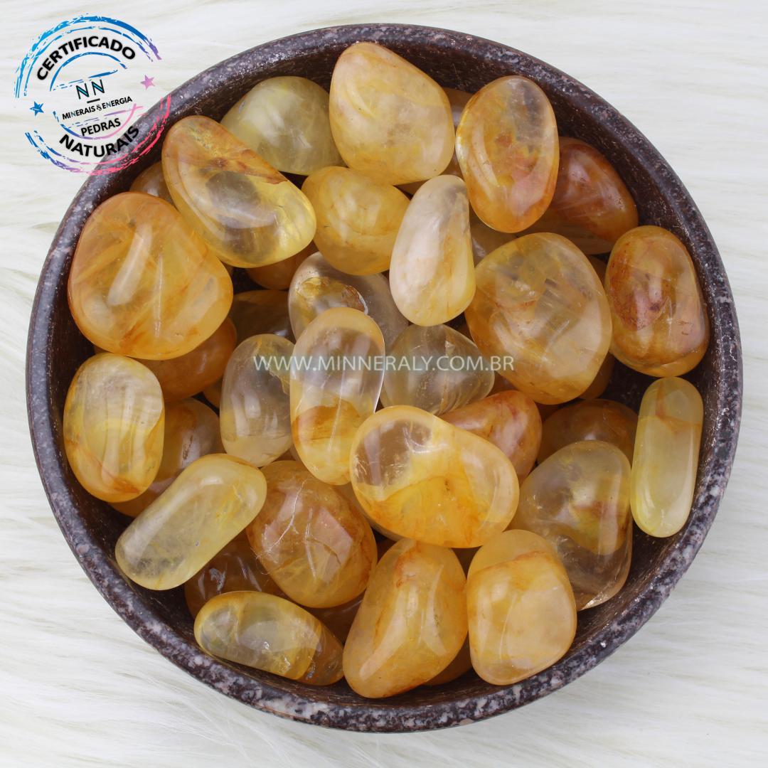 Quartzo ou Cristal Hematoide Amarelo (agente de Cura Ouro) IN Natura ROLADA/QUILO