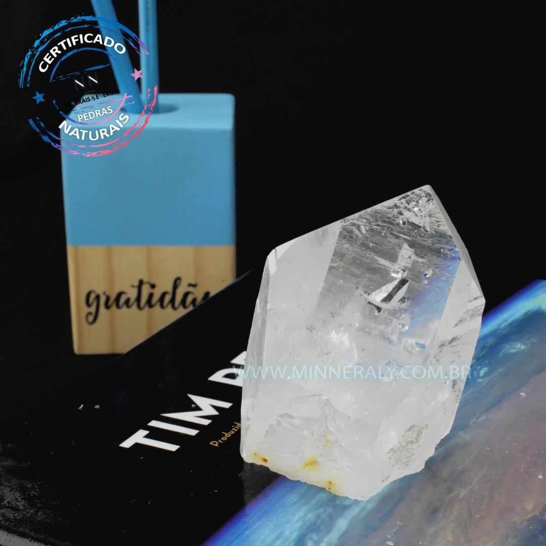 Quartzo ou Cristal (lazer) IN Natura em Bruto (0,194KG; ALT: 5,0CM)