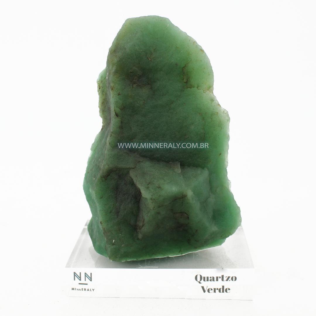 Quartzo Verde IN Natura Clear.collection (1,025KG; ALT: 16,0CM; COMP: 7,5CM; LARG: 11,0CM)