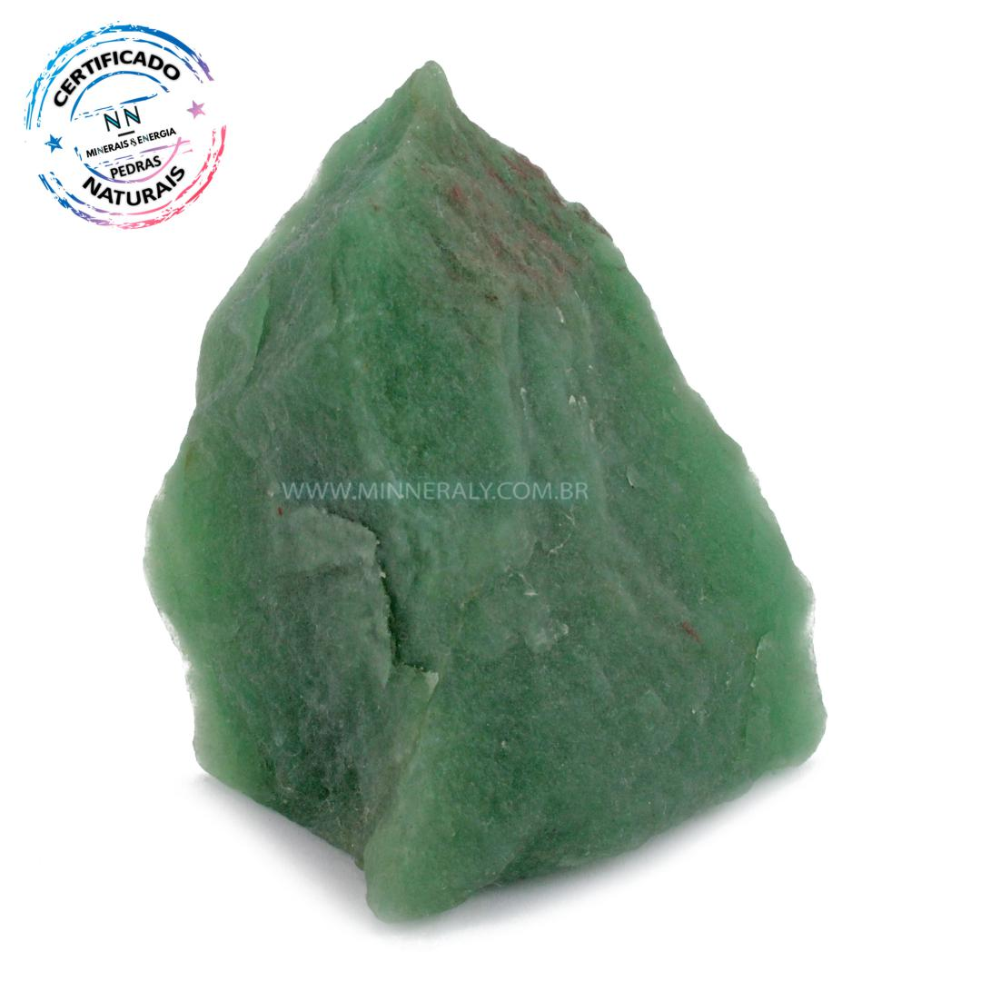 Quartzo Verde IN Natura em Bruto (0,380KG; ALT: 9,6CM; COMP: 8,9CM; LARG: 5,0CM)