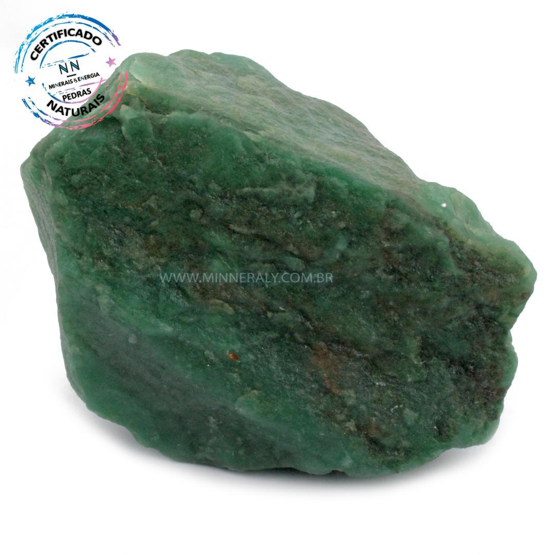 Quartzo Verde IN Natura em Bruto (1,950KG; ALT: 11,5CM; COMP; 16,3CM; LARG: 9,3CM)