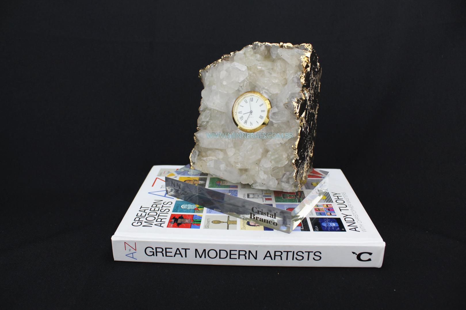Relógio em Drusa de Cristal in Natura #NN106