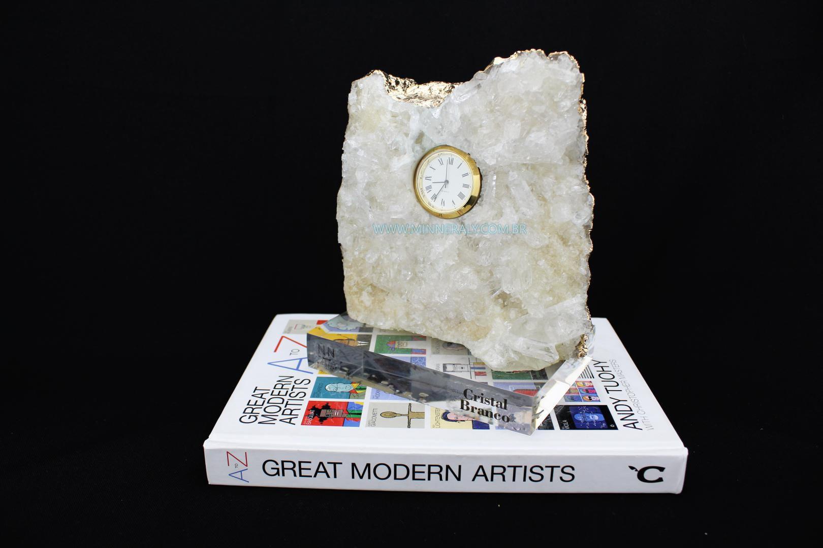 Relógio em Drusa de Cristal in Natura  #NN105