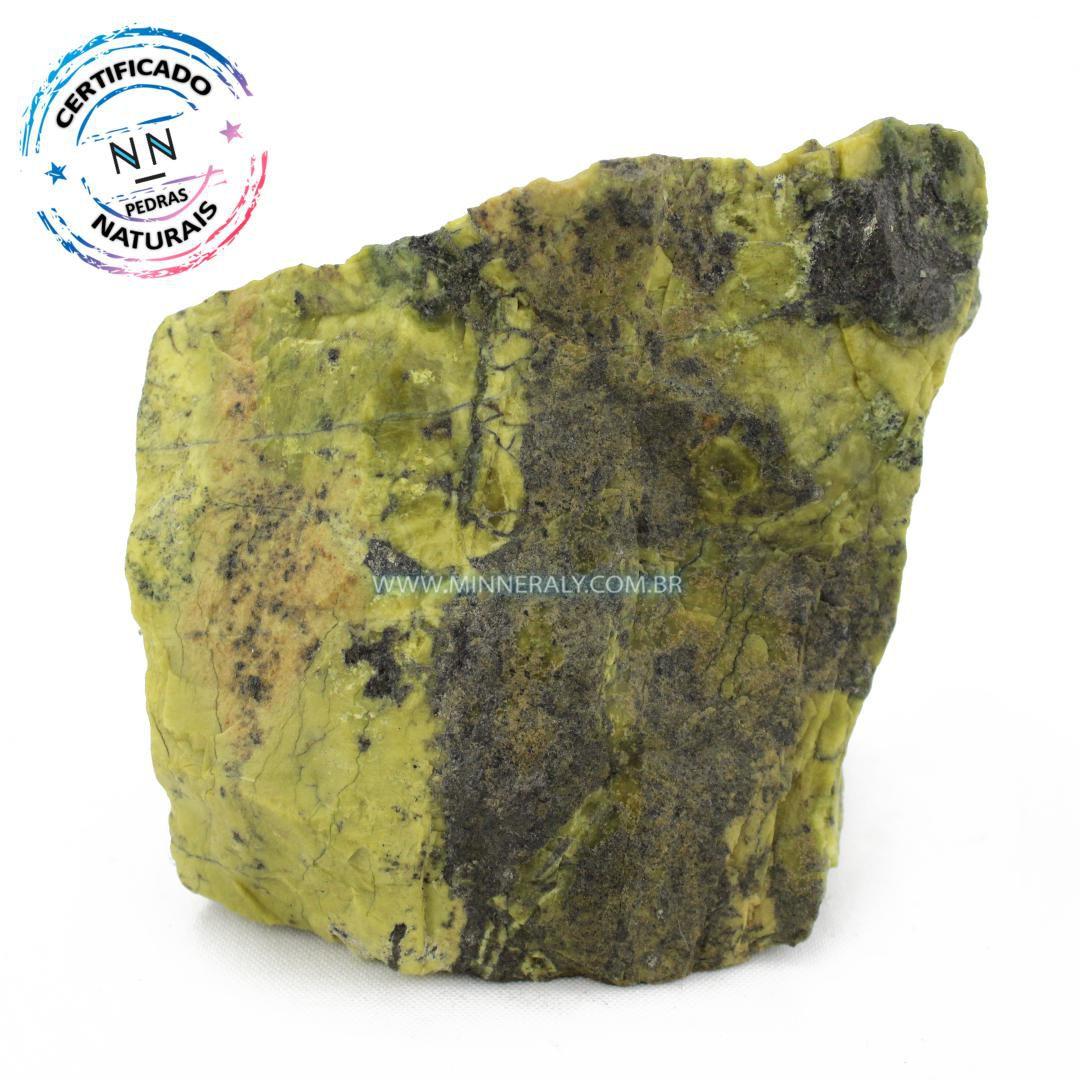 Pedra do Infinito (Serpentina Verde-Clara) in Natura em Bruto #NN580