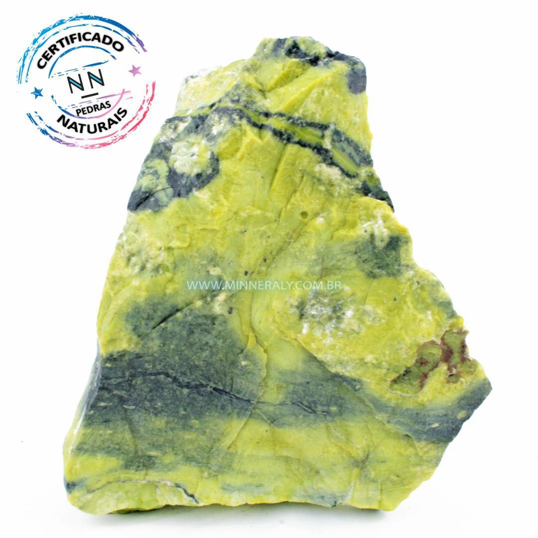 Pedra do Infinito (Serpentina Verde-Clara) in Natura em Bruto #NN581