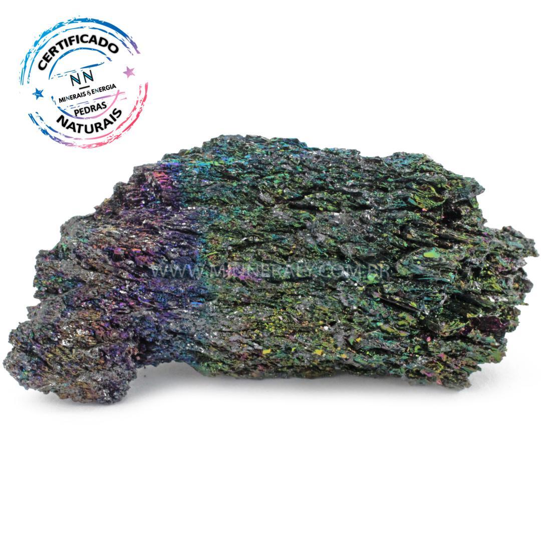 Silicio ARCO-IRIS Reconstituida em Bruto (0,200KG; ALT: 5,5CM; COMP: 10,9CM; LARG: 4,2CM)